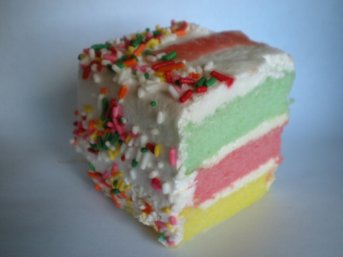... married), my choice of cake was the Rainbow cake from Dee Lite bakery