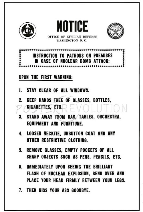 Poster Nuclear Bomb