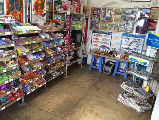 John's Store Candy Rack